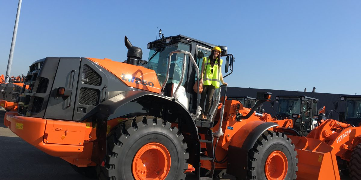 Charlotte Baxter on Wheel loader