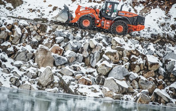Hitachi wheel loader in Greenland