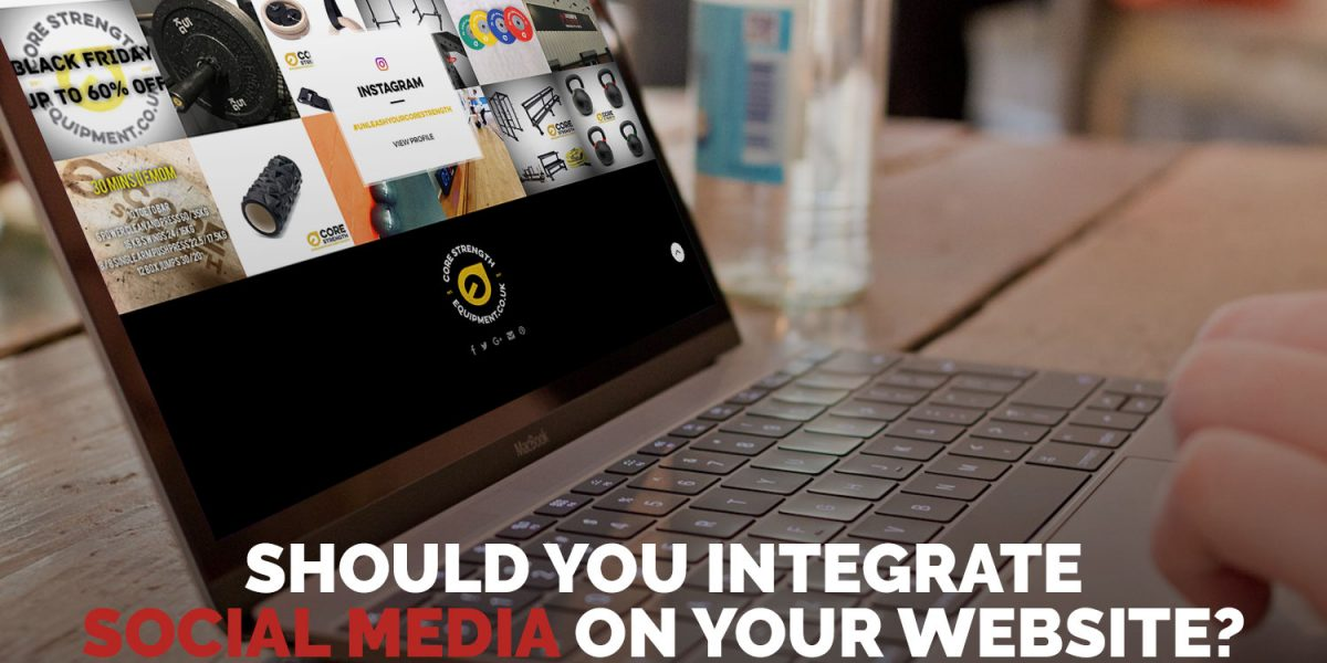 Integrate social media website