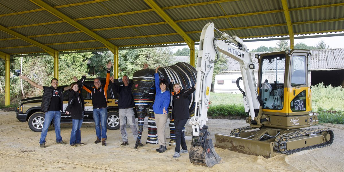 Elephant Haven delivery of excavator