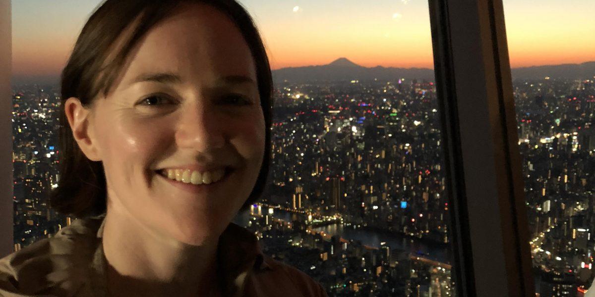 Kerrie at Tokyo Skytree, Japan