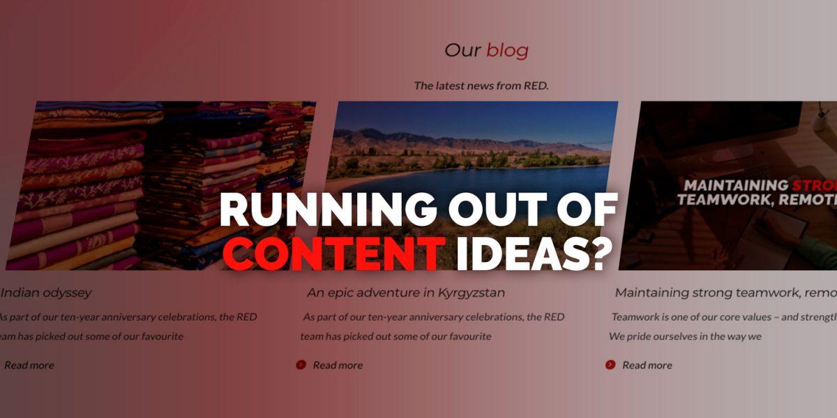 Content generation ideas